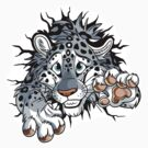 STUCK Snow Leopard - Sticker by tanidareal