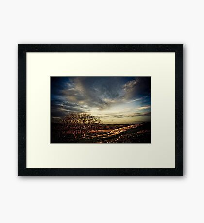 Dogs Rocks, Geelong Framed Print