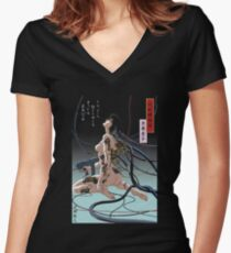 Ghost In Shell Arise Women's Fitted V-Neck T-Shirt