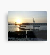 Three Floating Cottages Metal Print