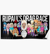 RuPaul's Drag Race Season 9 Girls Poster