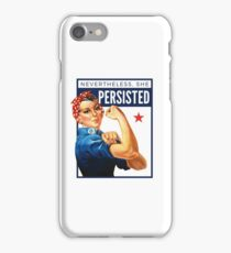 Nevertheless She Persisted - Rosie the Riveter iPhone Case/Skin