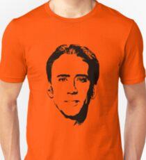Nicolas Cage's Head - Black and White Unisex T-Shirt