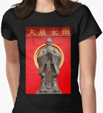 Confucius Womens Fitted T-Shirt