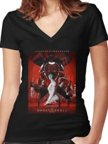 Ghost In Shell The Movie Women's Fitted V-Neck T-Shirt