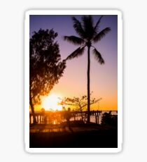 Sunrise stroll - Palm Cove Sticker