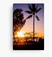 Sunrise stroll - Palm Cove Canvas Print