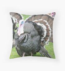 Turkeys Throw Pillow