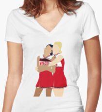 Brittana   Glee Women's Fitted V-Neck T-Shirt