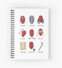 Red Hood Puns Spiral Notebook