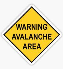 Warning Avalanche Area Sticker