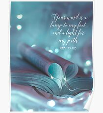 PSALM 119:105 Poster