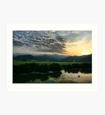 Beautiful sunset, Iran Art Print