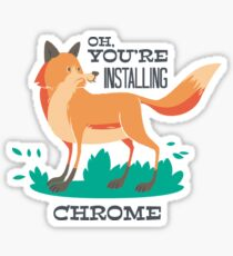 Chrome Sticker
