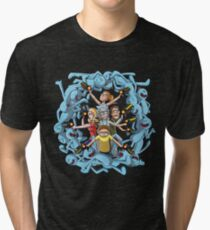 Rick and Morty: Happy Family Tri-blend T-Shirt