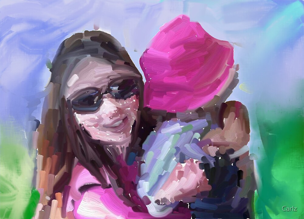 Me and my Niece... If you step back and have a look at it, its comes alive by Carlz