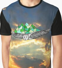Owl at Sunset Graphic T-Shirt