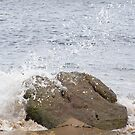 Water Splashing Over Rock by Tom Wells