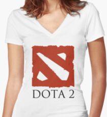 DOTA 2 VALVE Women's Fitted V-Neck T-Shirt