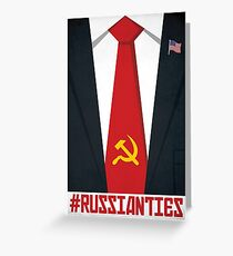 Russia Donald Trump Poster, Russian Ties with Putin Poster Greeting Card