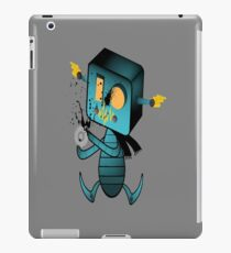Curious Robot Tee iPad Case/Skin