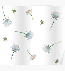 Wildflower pattern Poster