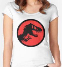 T-rex/ Jurassic logo Women's Fitted Scoop T-Shirt