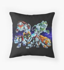 Lions of Voltron Throw Pillow