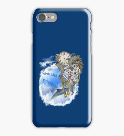 Family Time With The Dolphins iPhone Case/Skin
