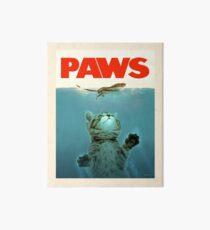 Lámina de exposición Paws Jaws Kitten And Mouse Cartel de la vendimia