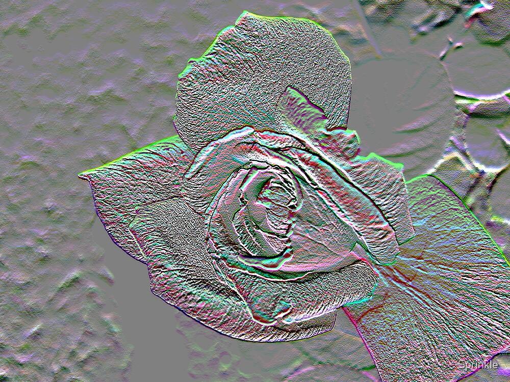 Rose Borealis Embossed by Sprinkle