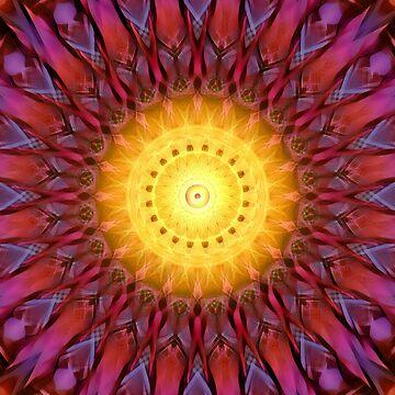 Heliosphere Mandala (red) by PandemoniumPrya