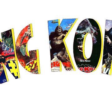 King Kong Through History by atomicthumbs78