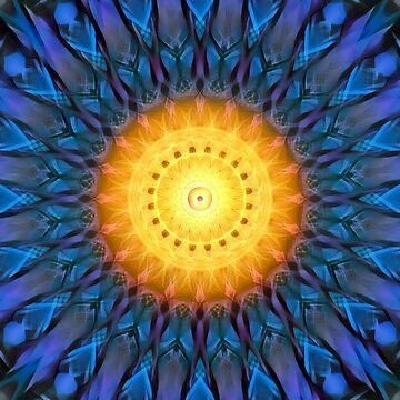 Heliosphere Mandala (blue) by PandemoniumPrya