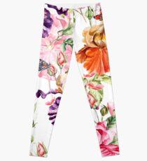 White floral Leggings