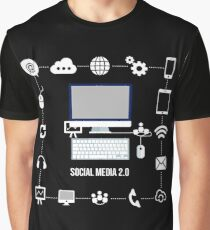 social media line Graphic T-Shirt