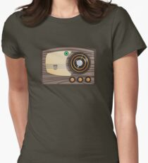 Vector Vintage Radio Women's Fitted T-Shirt