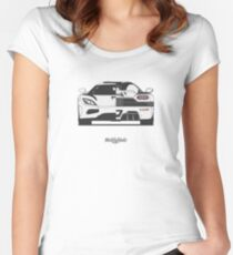 Koenigsegg Agera (front/rear) Women's Fitted Scoop T-Shirt