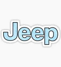 Pegatina brillante Jeep - Baby Blue