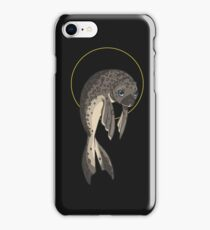 Cute Adorable Sad Morose Harbor Seal iPhone Case/Skin