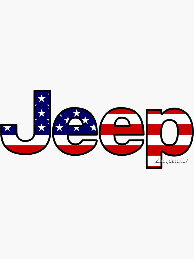 Jeep - American Flag by Zboydston17