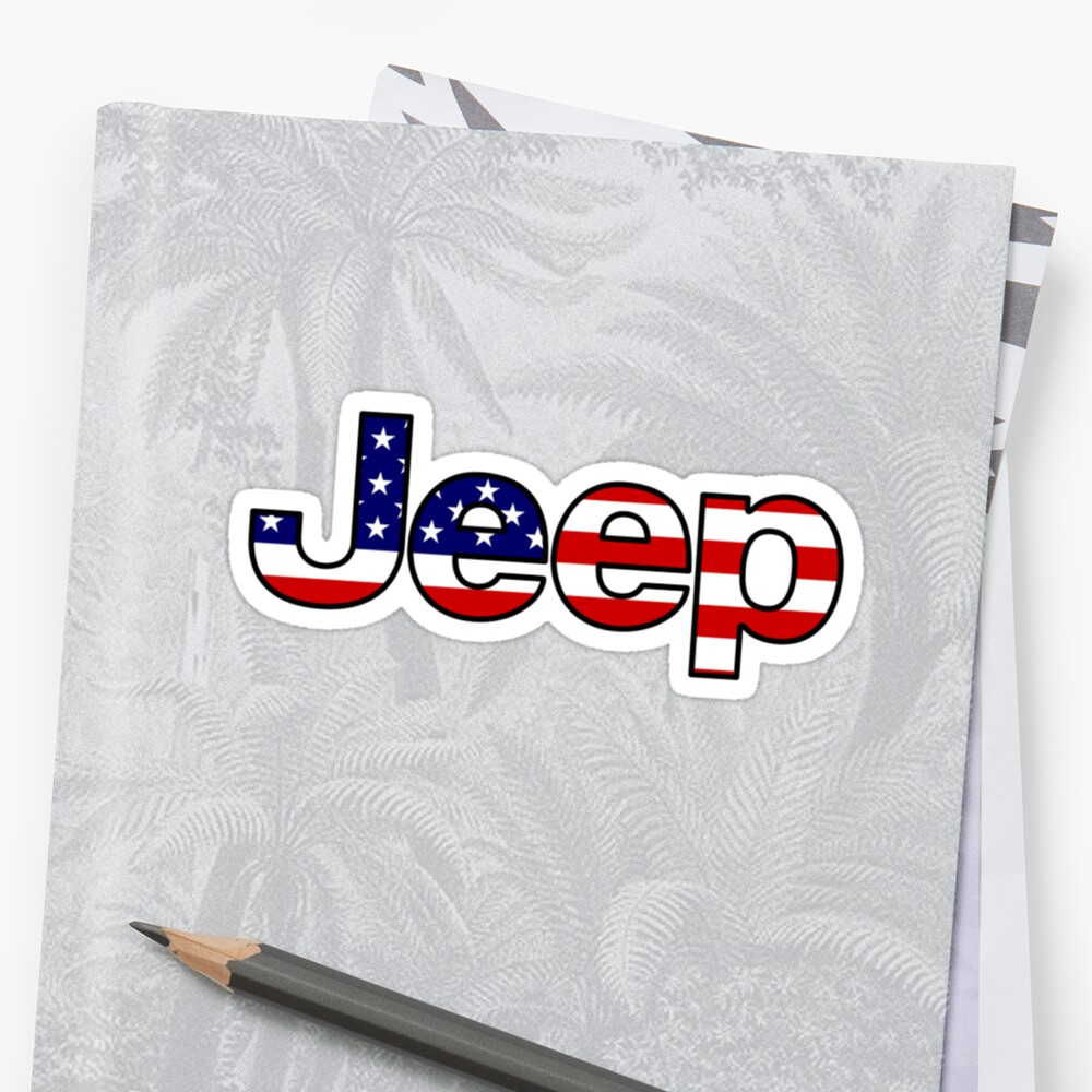 Jeep - American Flag Sticker