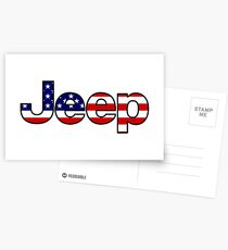 Jeep - American Flag Postcards