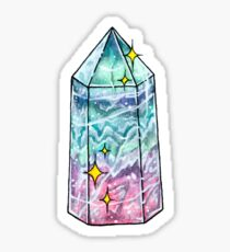 Fluorite Crystal Point Sticker