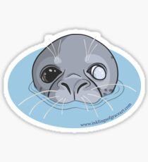 Popeye the Friday Harbor San Juan Washington Harbor Seal Sticker