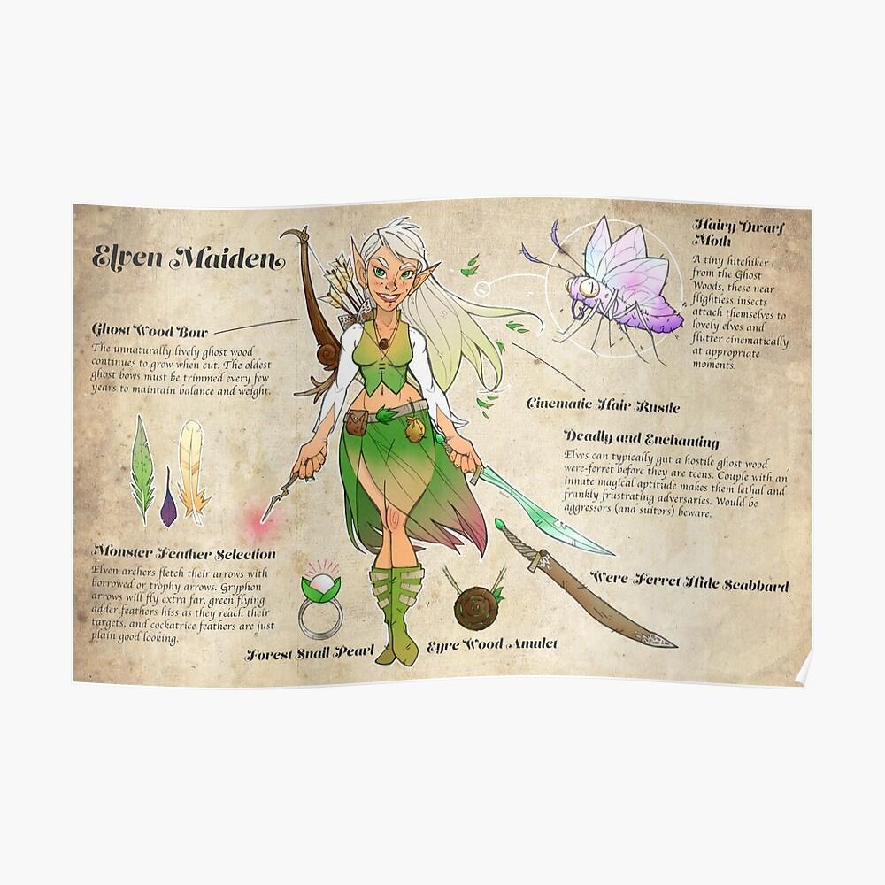 Elf Maid Adventurer Character Sheet