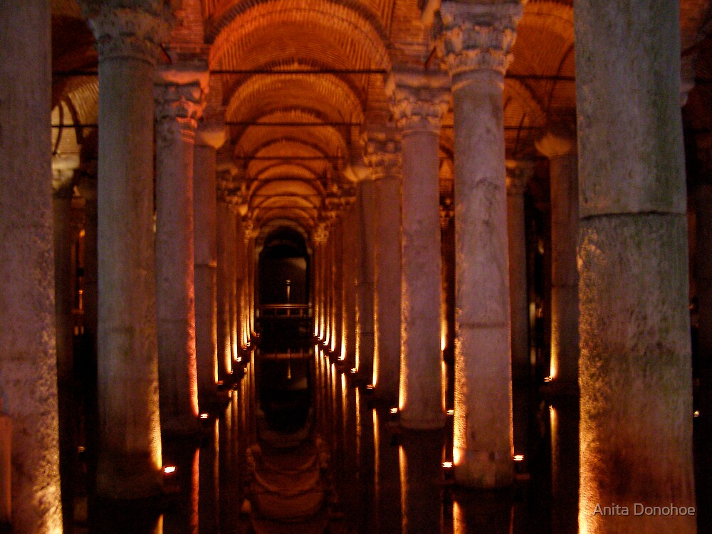 Justinian Cistern in Istanbul by Anita Donohoe