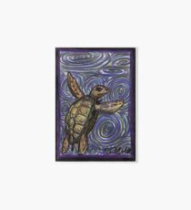 Loggerhead Turtle and Swirls Art Board