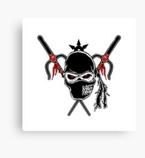 Cartoon Ninja zombie Face Canvas Print
