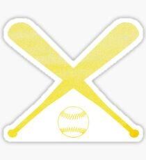 Softball Yellow Sticker